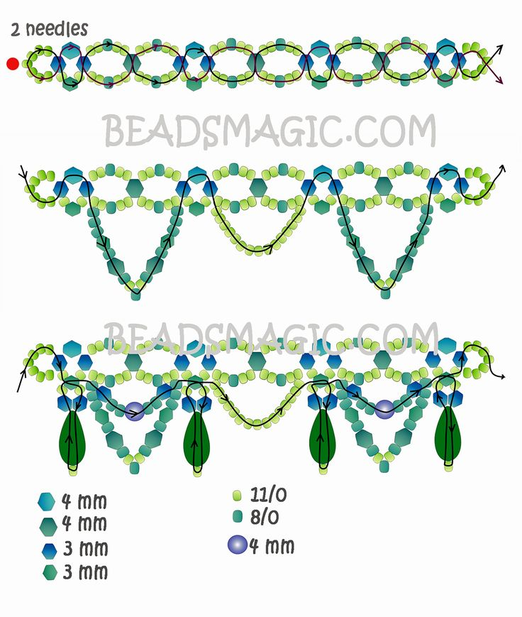 Free pattern for necklace Ameli | Beads Magic