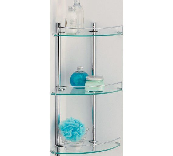Buy HOME Corner Glass and Wire Rack at Argos.co.uk, visit Argos.co.uk to shop online for Bathroom shelves and storage units, Bathroom furniture, Home and garden
