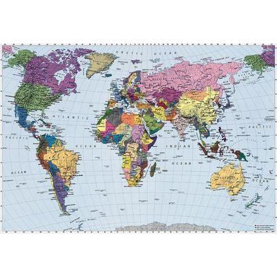The 94 best cartes du monde images on pinterest world maps komar world map mural 4 050 home depot canada gumiabroncs Images