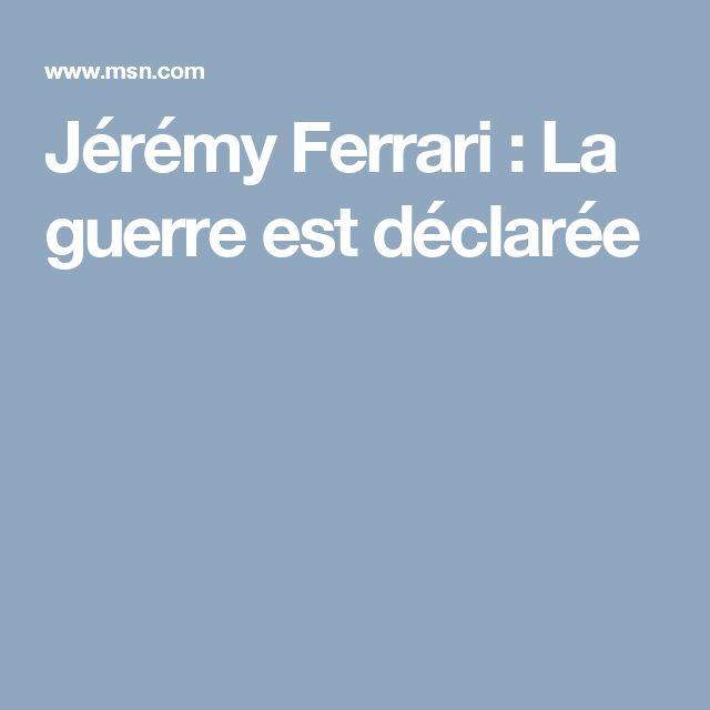 Jérémy Ferrari : La guerre est déclarée