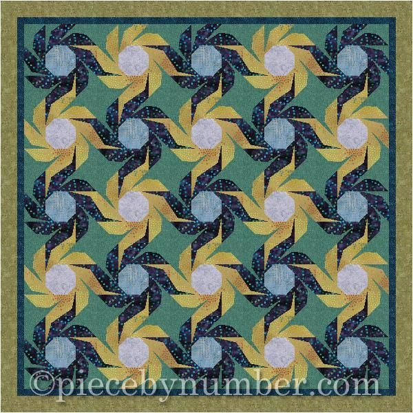 (7) Name: 'Quilting : Swiss Daisy Paper Pieced Quilt Block
