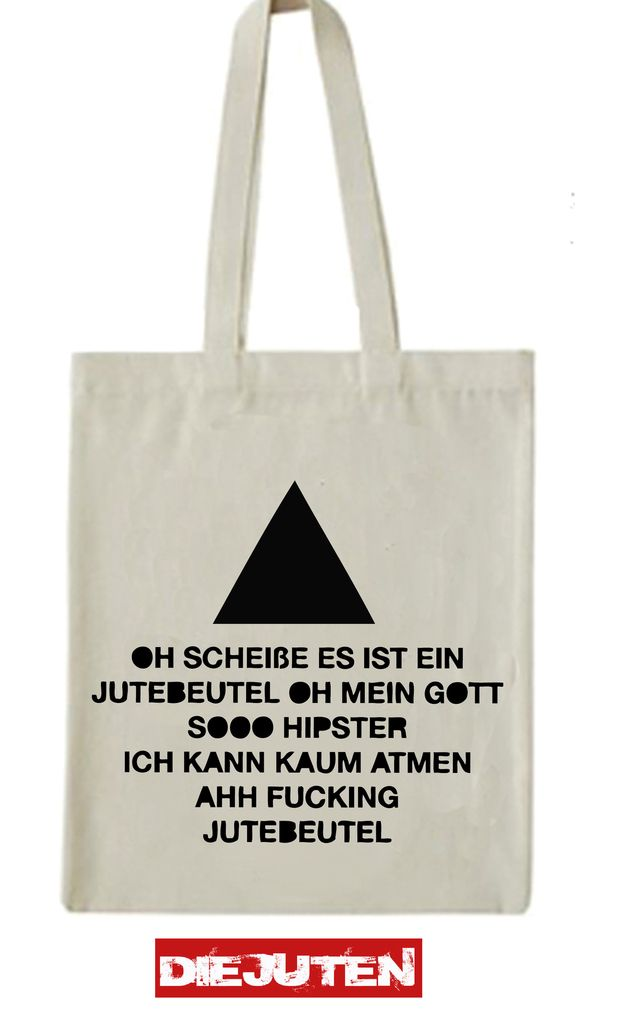 "Jutebeutel  ""Triangle"" // tote bag by Die Juten via DaWanda.com"