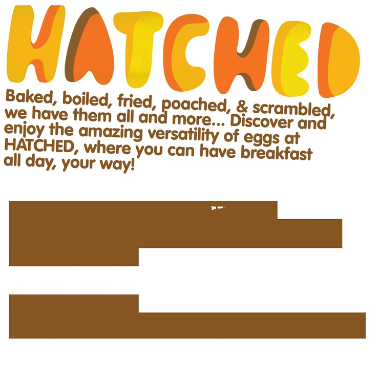 Hatched - Rise & Dine!  all day breakfast in singapore!