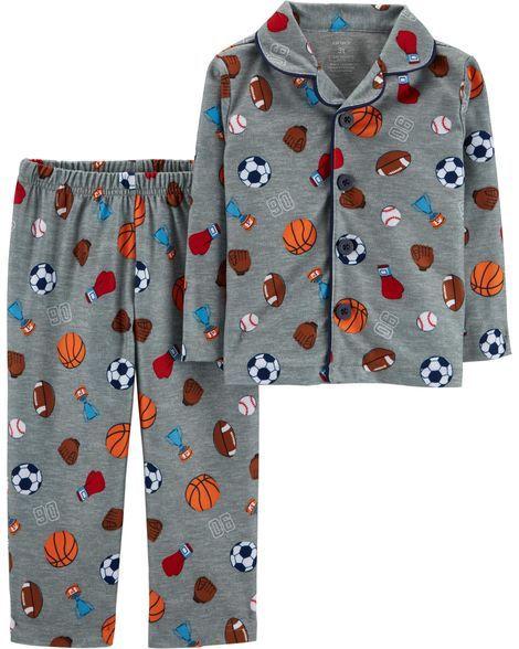 f81779899 2-Piece Sports Print Lightweight Fleece PJs