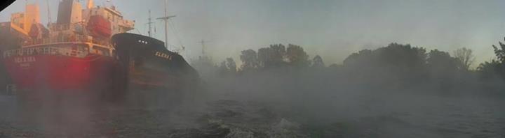 Gaston Seggioli: Rio Luján y Carapachay, mañana de niebla.