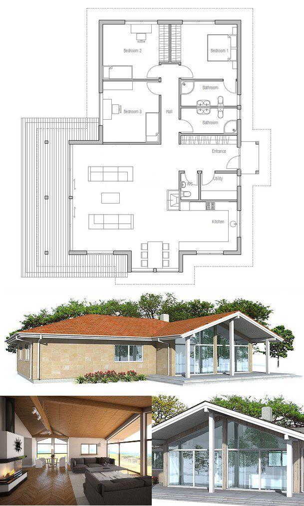 """Os americanos chamam de """"small house"""". Para mim, uma casa térrea de tamanho ideal!"""