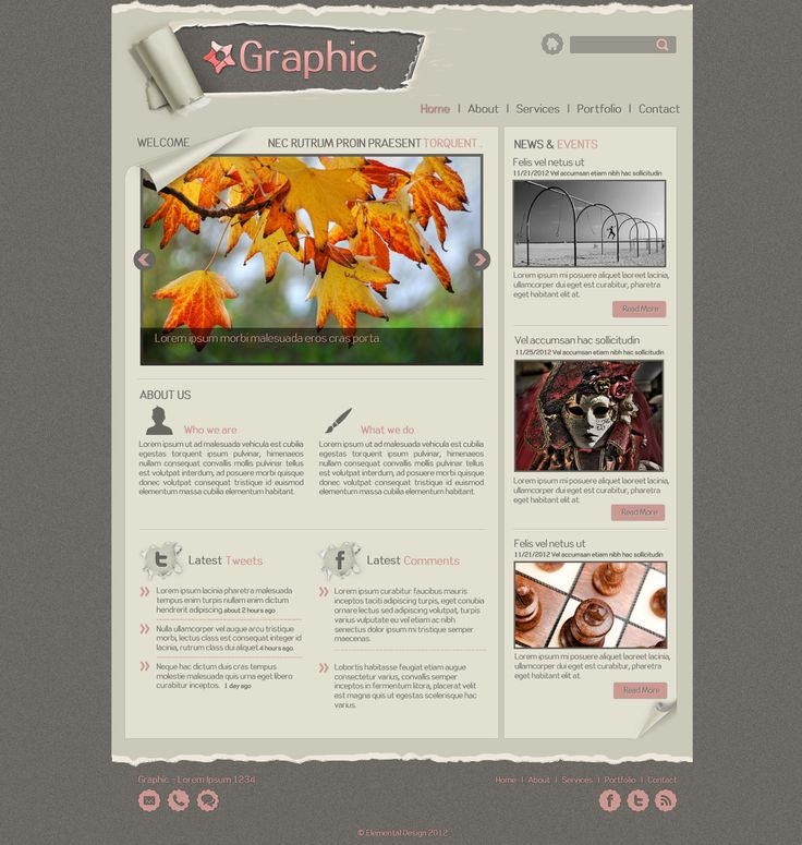 Graphic Web Template