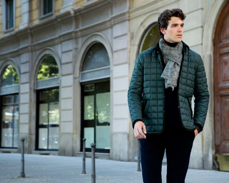 Fay City Diaries features the Men's Fall - Winter 2013/14 collection with the polished backdrop of Milan. Quilted Jacket.  http://www.fay.com/it/city-diaries/milano