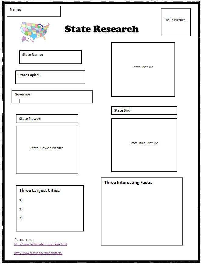 state research graphic organizer