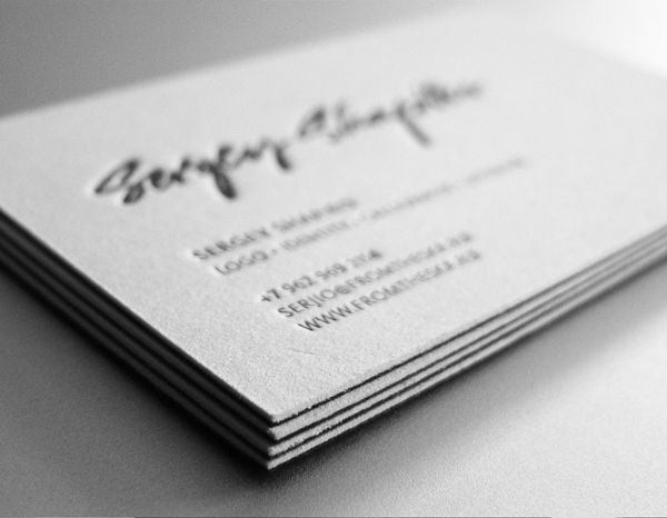 Personal business cards by Sergey Shapiro, via Behance- The signature make the logo look personal, something I want my brand identity to be, so I will take inspiration from this.
