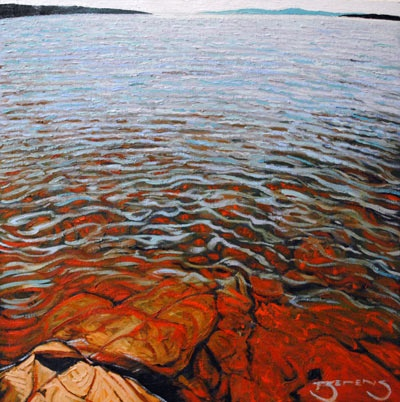 Cool Waters - painting by Mark Berens at Crescent Hill Gallery