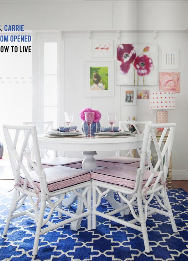 Blue And White Monday From Australias Anna Caldwell Trellis RugDining Room