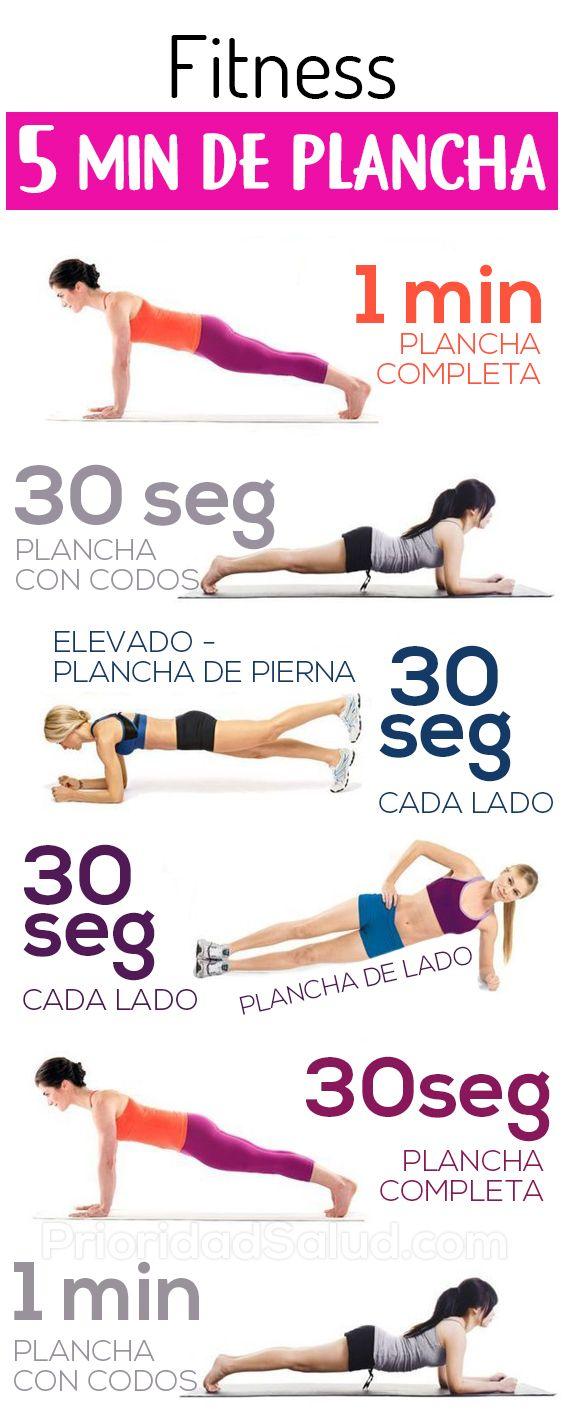 5 minutos de planchas, ejercicios abdominales para ponerte en forma