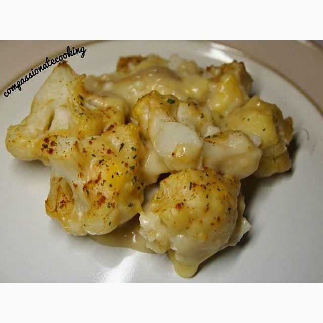 Compassionate Cooking: Vegan Cauliflower Cheese