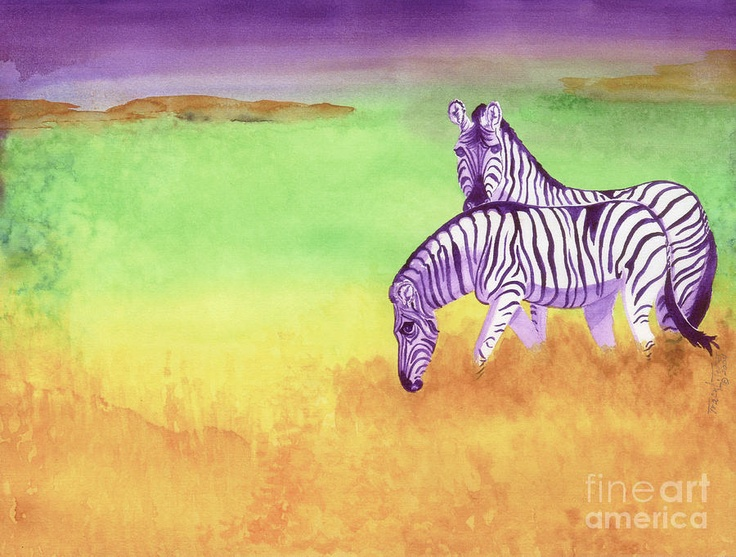 Plains Zebra Painting by Tracy L Teeter - Plains Zebra Fine Art Prints and Posters for Sale