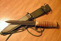 1943 U.S. M3 Trench Knife with sheath, WWII
