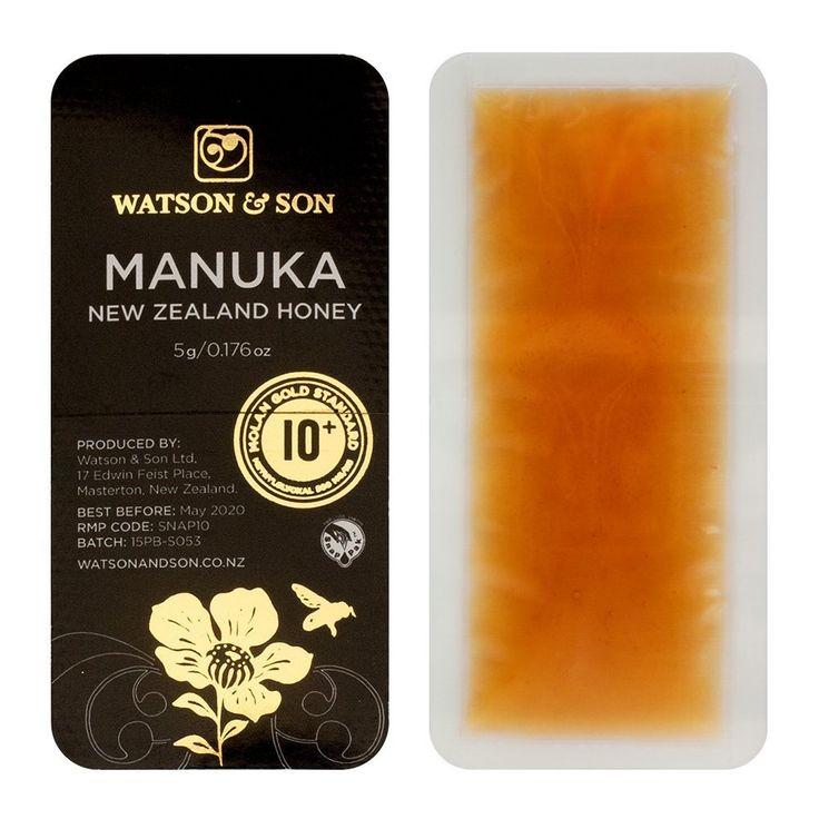 Amazon.co.jp: ワトソン&サン社 マヌカハニー スナップパック MGO300+(MGS10+) 5g 10個セット: 食品・飲料・お酒 通販