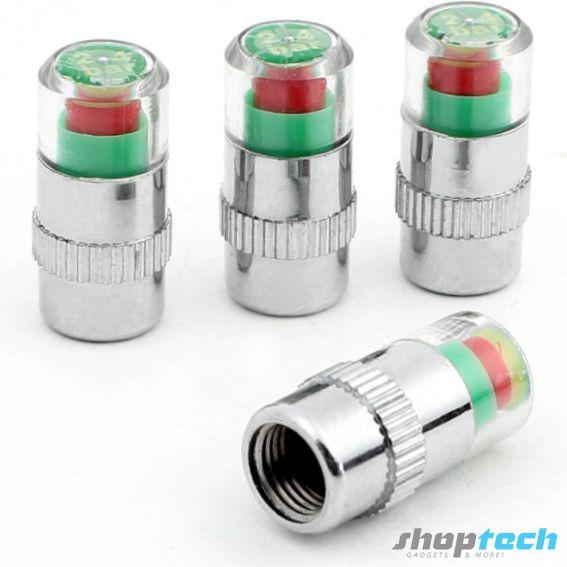 Tapón medidor de presión para tus neumáticos. Te mantiene siempre alerta de la condición de presión en las llantas.