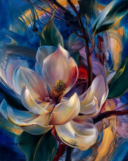 flores pintadas por vie-dunn-harr                                                                                                                                                                                 Más