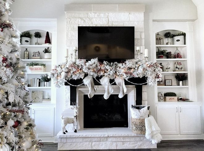 How To Decorate Fireplace best 25+ christmas fireplace ideas on pinterest | christmas mantle