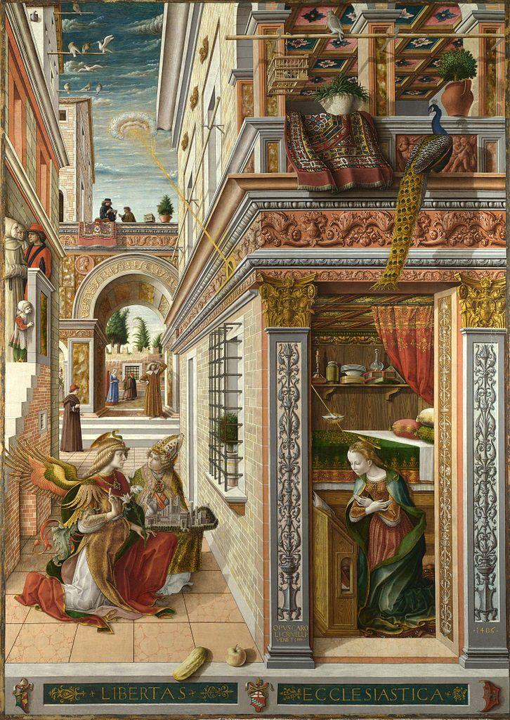 A anunciação com Santo Emídio – 1486