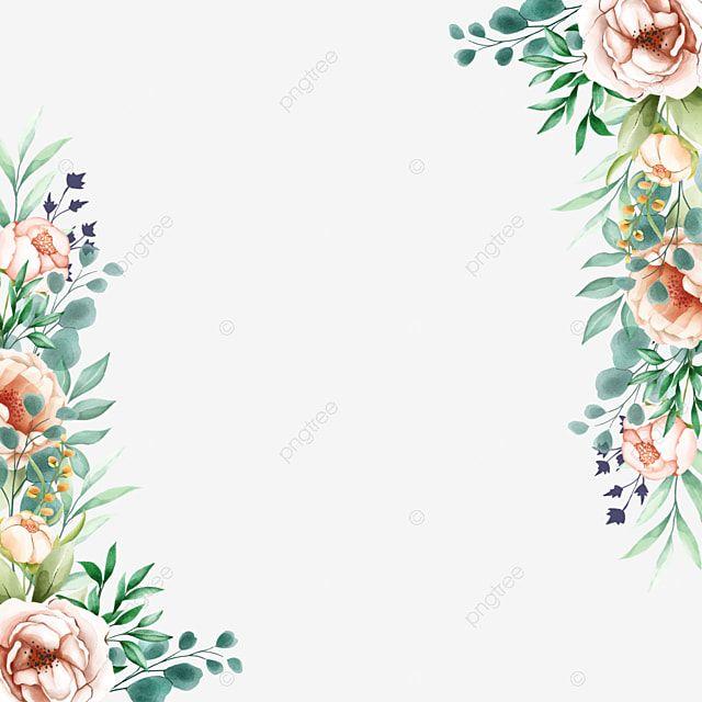 Floral Sideways Beautiful Frame Flower Frame Floral Background Flower Backgrounds