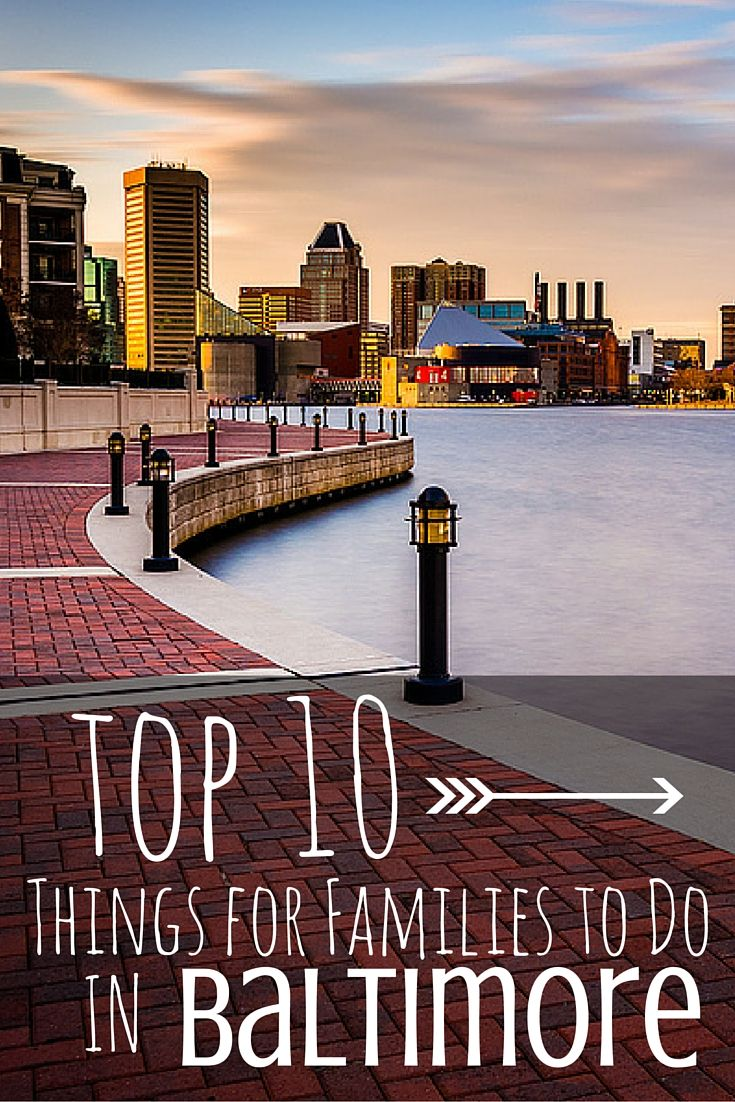 Trekaroo's Top 10 Things for Families to Do in Baltimore includes: Fort McHenry, National Aquarium, Baltimore Art Museum and Walters Art Museum, Urban Pirates Family Cruise, Port Discovery and Maryland Science Center, Historic Ships of Baltimore, Baltimore Museum of Industry an B&O Railroad Museum, Geppi's Entertainment Museum and The Maryland Zoo in Baltimore.