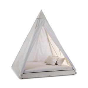 Pyramid tent.