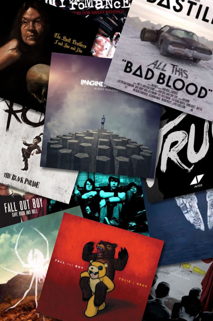 Music wallpaper/these are some of my favorite albums...(imagine dragons, bastille, avicii, Mumford and sons, avett brothers, Coldplay, fall out boy, my chemical romance)