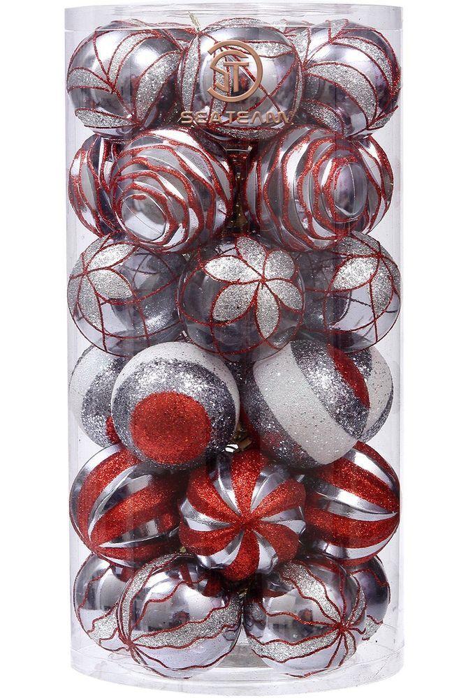 Christmas Ball Ornaments Set Decorative Shatterproof