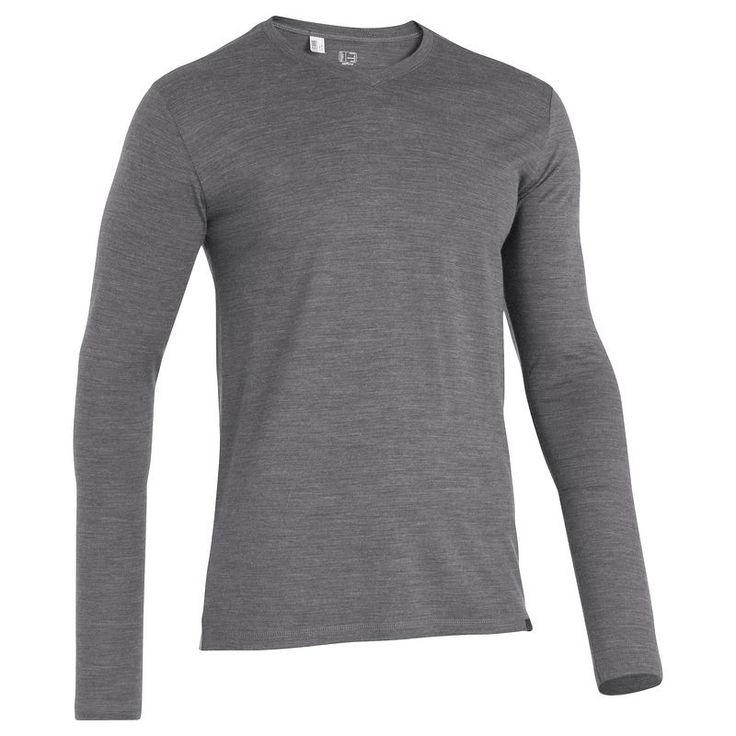 RANDONNEE Habillement Homme Randonnée - T-Shirt homme Simple WOOL QUECHUA - Vêtements Homme BLACK
