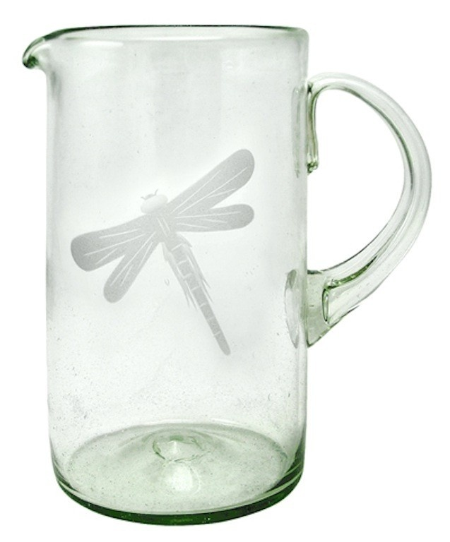 This Recycled Glass Pitcher measures high and holds 56 ounces. The pitcher is etched with an attractive dragonfly. Dragonfly Pitcher by Mariposa.  sc 1 st  Pinterest & 31 best Mariposa Dinnerware images on Pinterest   Dinner ware Sand ...