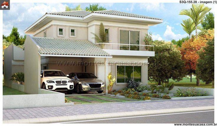 Resultado de imagem para plantas casas 3 quartos moderna for Casa moderna sketchup download