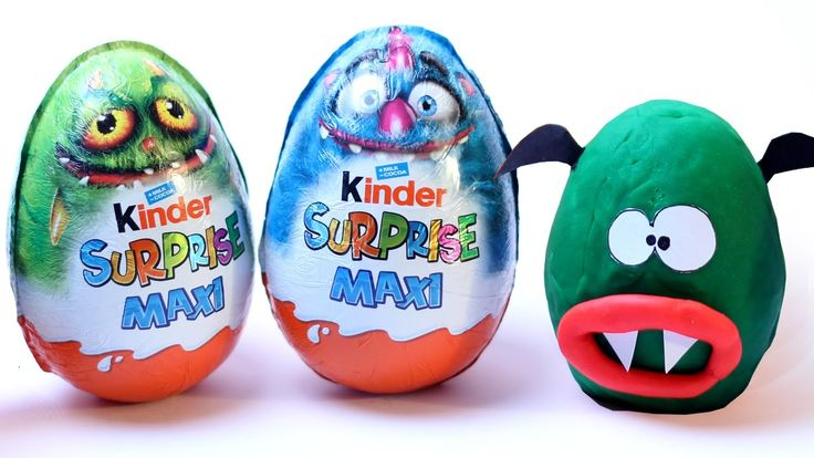 Giant Kinder Surprise Maxi Monster Egg Opening