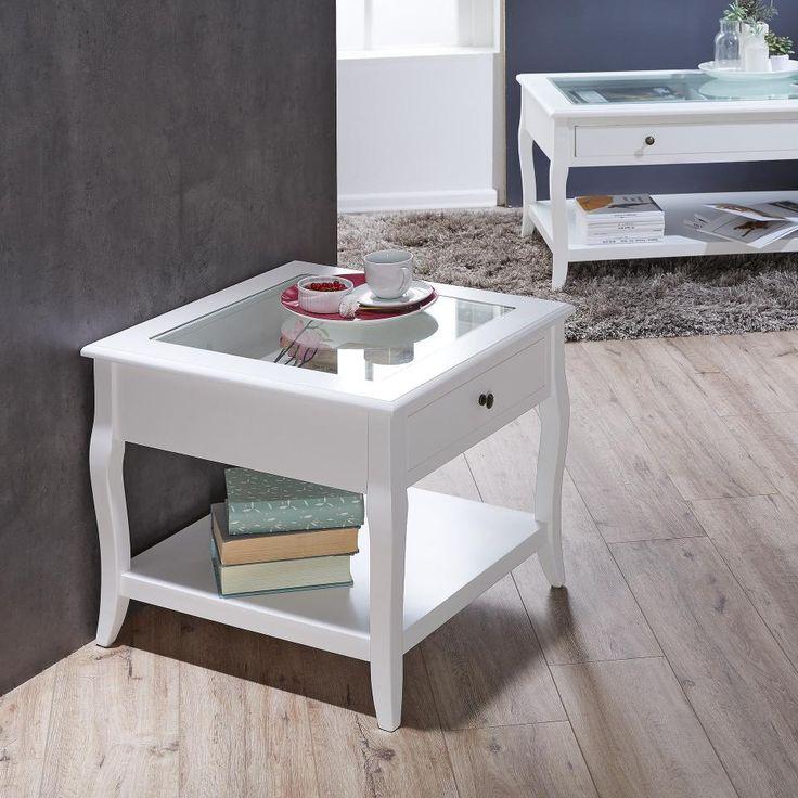 Couchtisch Weiss Quadratisch Mit Glasplatte Preiswert Danisches Bettenlager Kleiner Couchtisch Couchtisch Weiss Couchtisch Landhausstil