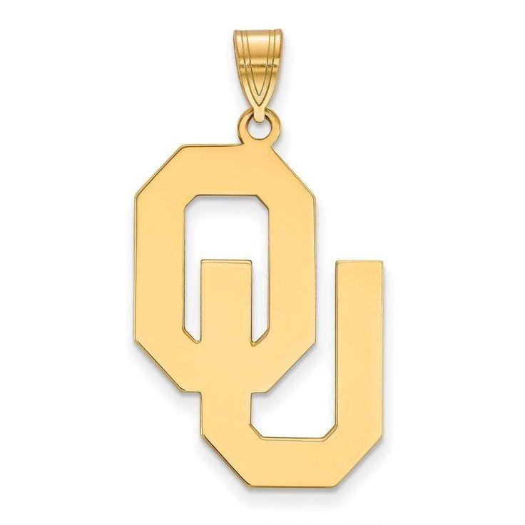 14ky LogoArt University of Oklahoma XL Pendant