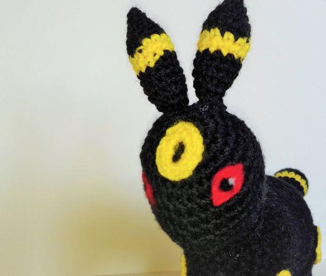 Umbreon, Pokemon, amigurumi, crochet, szydełko, DIY, geek
