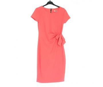 Net, koraalkleurig jurkje met korte mouwtjes