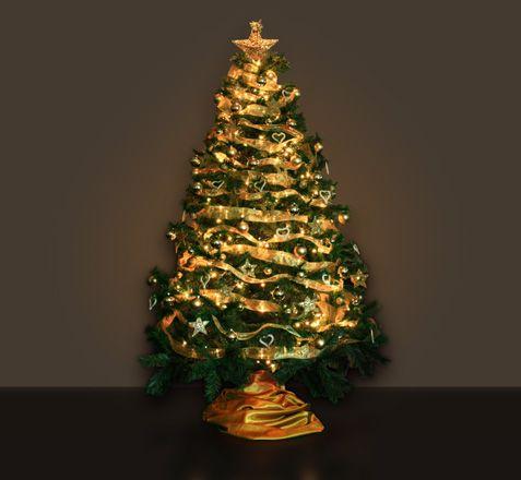 Arboles de navidad decorados de dorado 10 jpg linksservice - Arbol de navidad dorado ...
