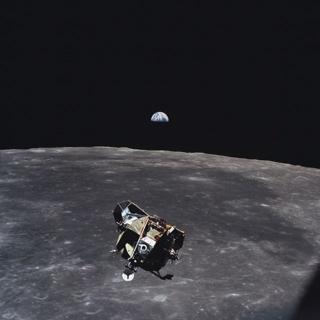 Apollo 11 Lunar Module Ascent Stage Photographed from Command Module