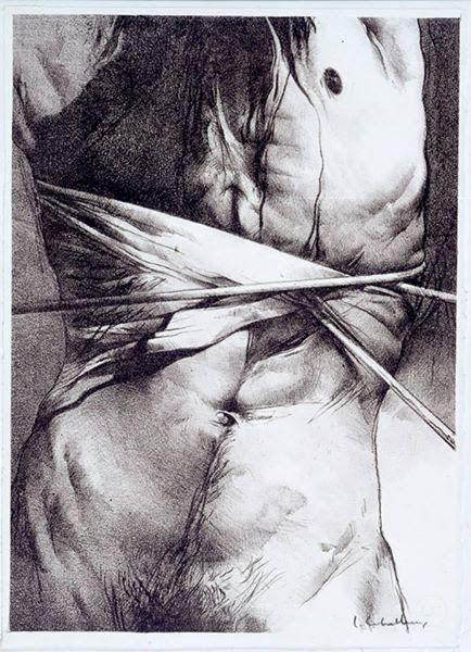 Le Chateau de Hors (1979), por Luis Caballero (1943-1995), autor da ilustração…