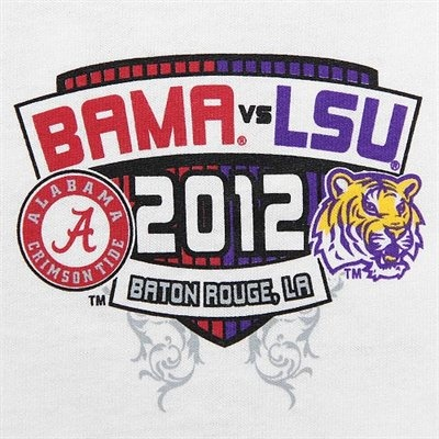 Alabama Crimson Tide vs. LSU Tigers Once More Game Day T-Shirt - White