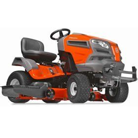 """Product review for Husqvarna YT46LS (46"""") 24HP Kohler Lawn Tractor. Engineered for added durability, comfort, style and precision, our LS series yard tractors all feature fabricated or reinforced decks and a heavy-duty chassis. The efficient, integrated washout port and optional mulch kit make these models ideal for demanding and extensive use. Then the..."""