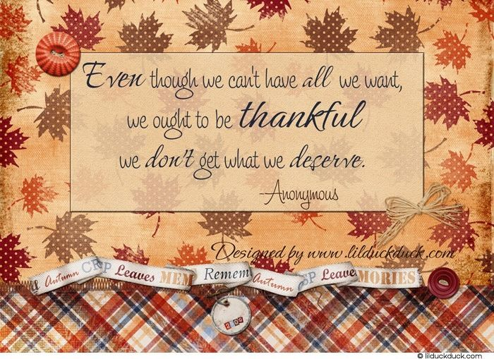 thanksgiving inspirational quotes | Inspirational Quote For Thanksgiving Season, Fall Themed Thankful