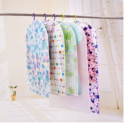 Waterproof  Dustproof Moistureproof Mildew Clothing Printing Transparent Dust Cover PEVA 3 SIZE Suits Coats Suitcase Pouch