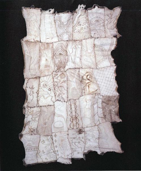 Traditional aboriginal possum-skin cloak (Australia)