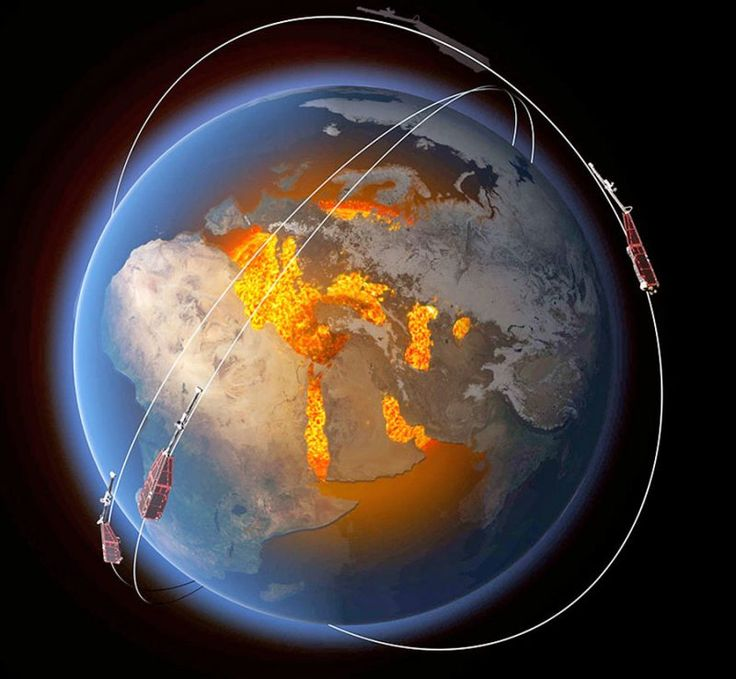 Scientists find jet stream in Earth's core | EarthSky 12/20/16 ESA's Swarm satellites have discovered a jet stream in the liquid iron part of Earth's core, nearly 2,000 miles (3000 km) below the surface