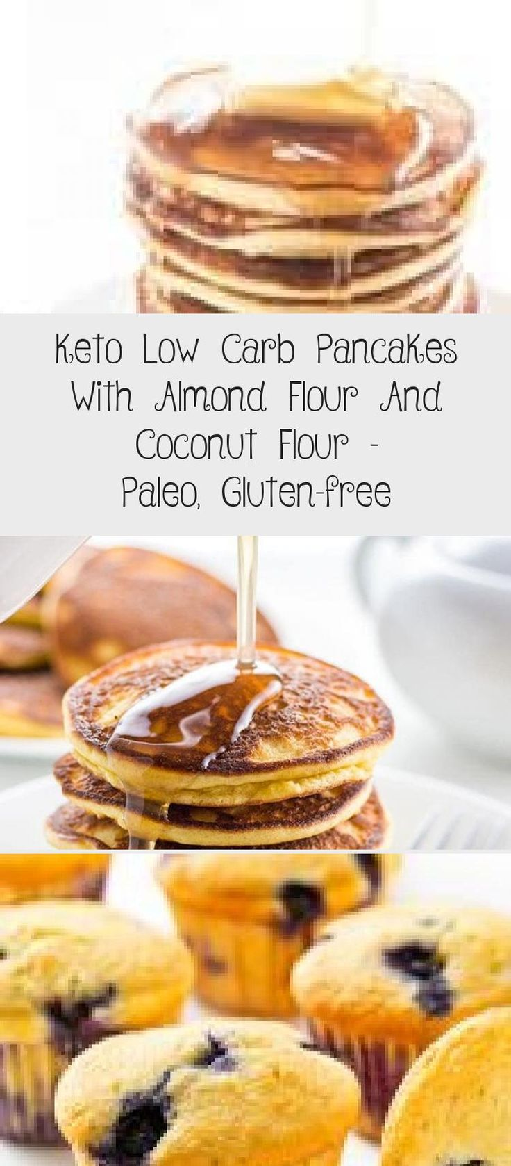 Keto Low Carb Pancakes With Almond Flour And Coconut Flour