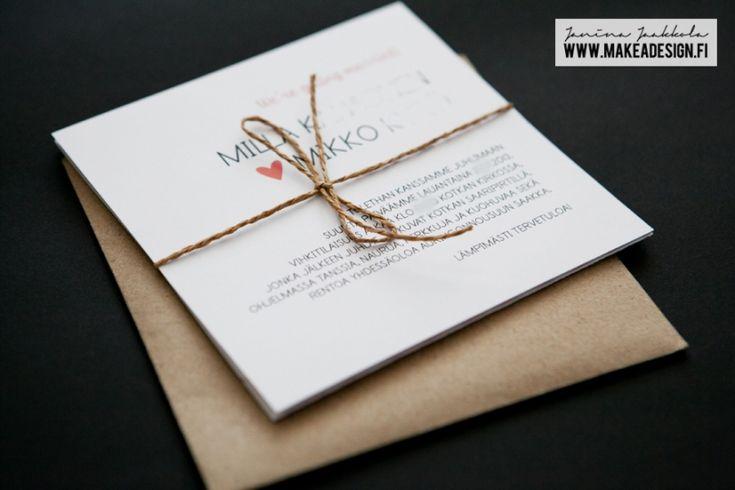 Graafinen suunnittelu – Millan ja Mikon kutsukortti ja hääinfo » Makea Design // Valokuvaus / Graafinen suunnittelu / Juhlasuunnittelu / Sisustussuunnittelu