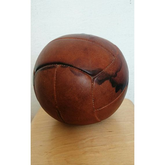 Grote Vintage Medicijnbal - antieke sportschool Decor